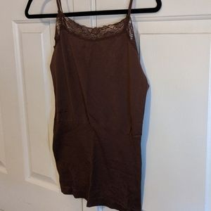 Brown lace cami